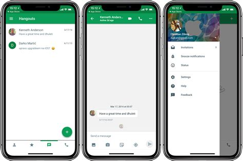hangouts for iphone hangouts has been optimized for iphone x