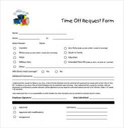 Paid Time Off Request Form Template