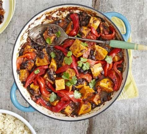 jerk sweet potato black bean curry recipe bbc good food