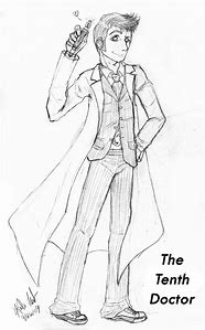 10th Doctor Who Coloring Pages