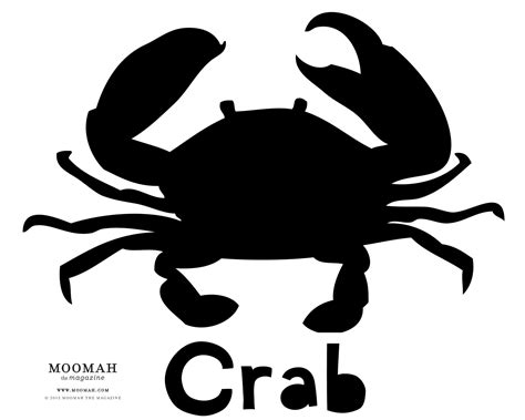 crab template crab collage moomah the magazine