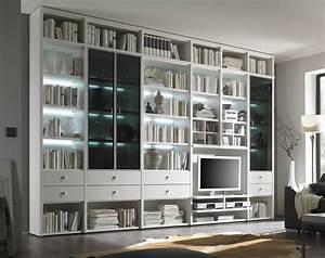 Tv Wand Kaufen : fernseher regal wand wohnwand studio 515 wohnw nde bibliothek b cherregal tv wand regal ~ Watch28wear.com Haus und Dekorationen