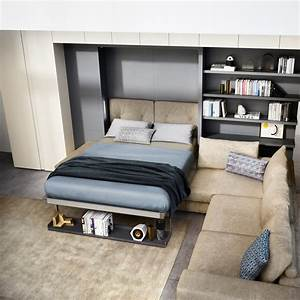 tango sectional queen wall bed sofa space saving With wall bed with sofa india