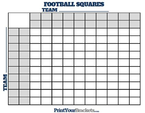 football squares  halftime lines printable version