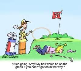 Funny Golf Cartoons Women