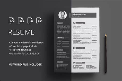 Cv Maker Word by Resume Cv Graphic By Rongmistiry Creative Fabrica