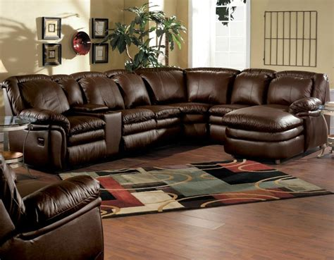 ultimate comfort reclining leather stallion sectional