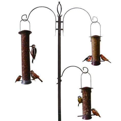 green jem 2 metre high wild bird feeding station helps