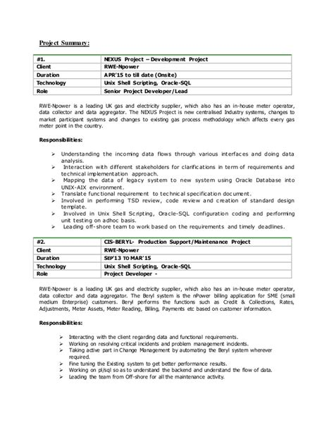 Unix Shell Scripting Resume by Rameshkumarpilli Resume