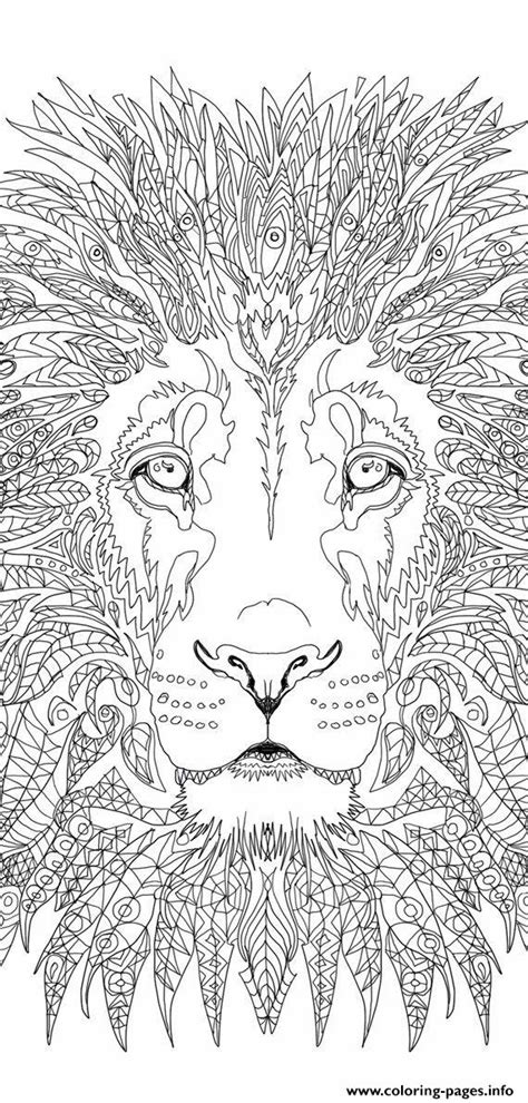advanced lion adult coloring pages printable