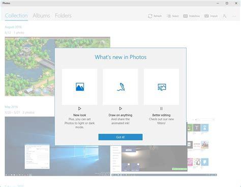 photos windows 10 microsoft photos for windows 10 update brings edit draw and interface enhancements ghacks