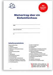 Einfamilienhausmietvertrag  Mietvertrag Von Haus & Grund