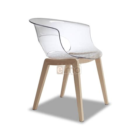 chaise en chene chaise design contemporaine chêne massif plastique massa