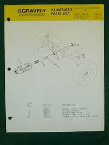 Gravely Front Drive Kit Parts Manual Model   15839e1