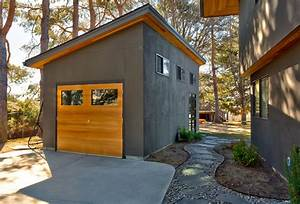 garden shed contemporain garage boise par king With charming allee d entree maison 0 maison contemporaine cubique amenagement exterieur pavage