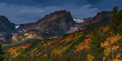 Rocky Mountains Mountain Painted Autumn Gifs Treat