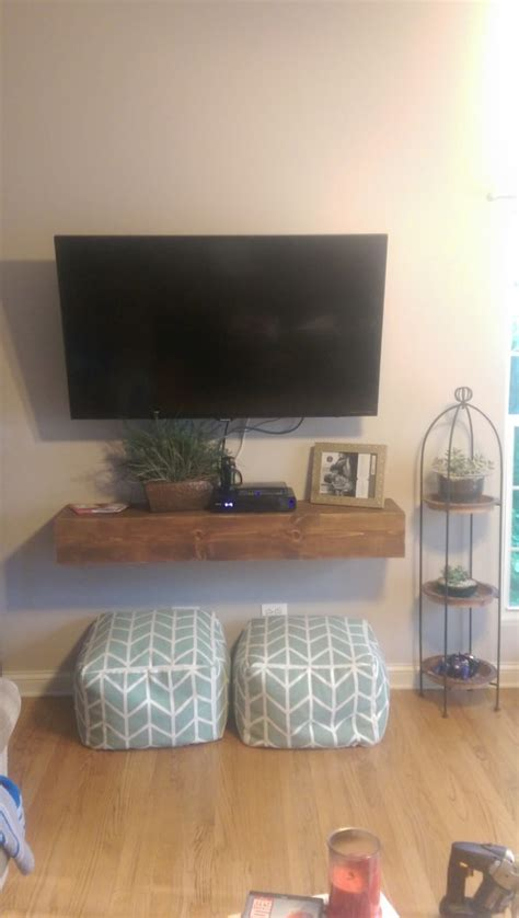 floating media shelf shanty  chic