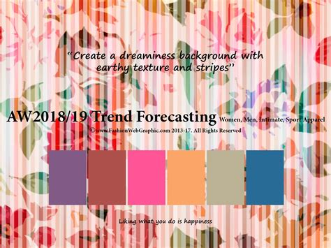 Autumn Winter 2018/2019 Trend Forecasting Is A Trend/color