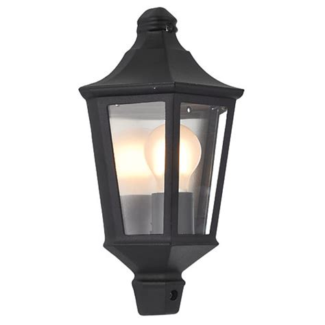 wickes 60w naples half lantern black wickes co uk