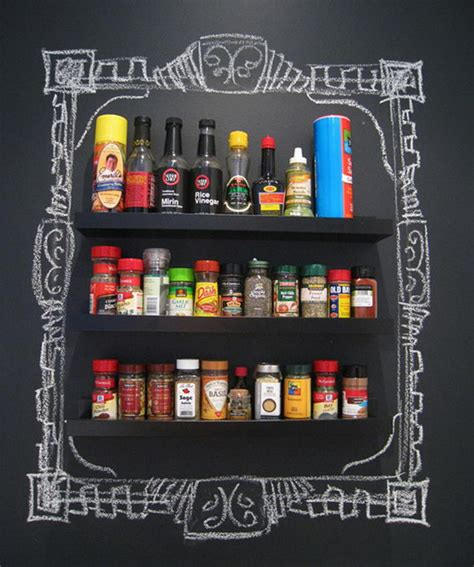 Cool Spice Rack Ideas by 20 Cool Chalkboard Paint Ideas Hative