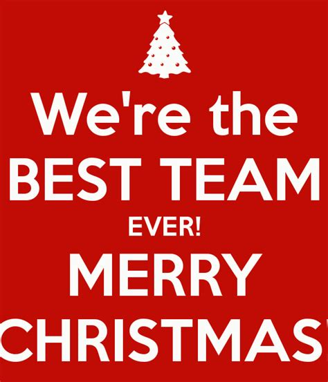 we re the best team ever merry christmas poster joana