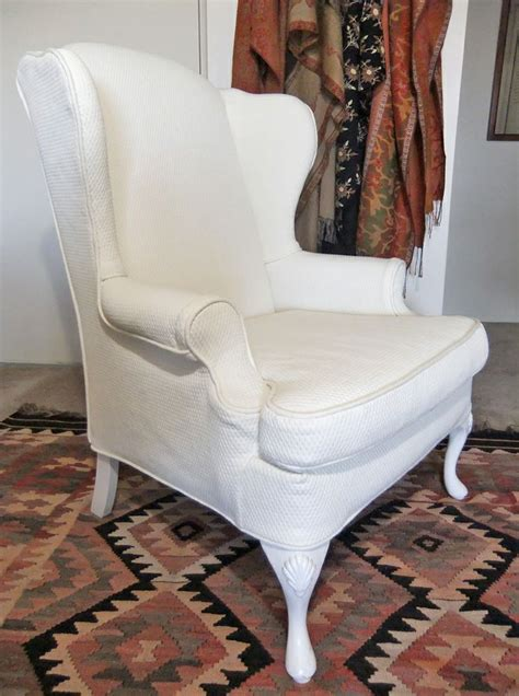 wingback chair slipcover in pattern matelasse by slipcovermaker sherry s