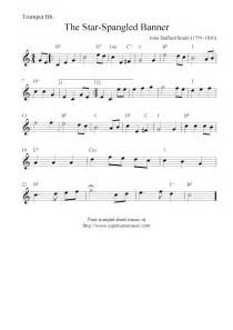 Star Spangled Banner Trumpet Sheet Music