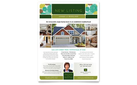 real estate flyer template word publisher