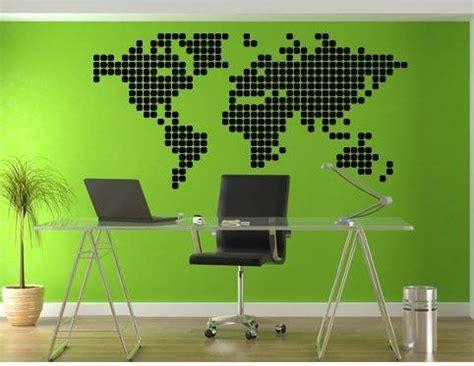 wall sticker world map blocks walldesign wall decals