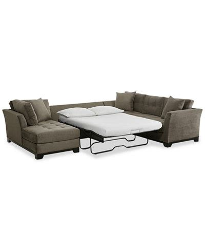 microfiber sectional sleeper elliot 3 pc microfiber sectional with full sleeper sofa