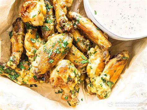 keto garlic parmesan chicken wings ketodiet blog