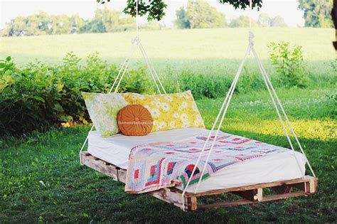 hanging garden bed diy pallet swing bed 187 the merrythought