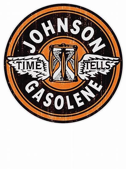 Signs Tin Apparel Gas Sign Gasoline Johnson