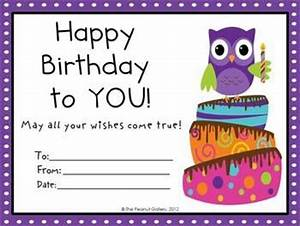 Birthday certificate, Owl themes and Owl on Pinterest