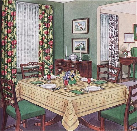 traditional dining room mid century design ideas