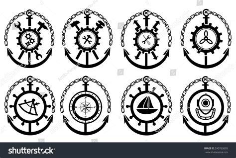 Boat Mechanic License by Marine Logos Diver Navigator Mechanic Electrician Stock