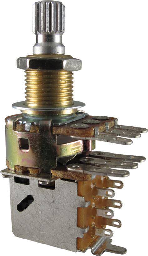 Potentiometer Bourns Audio Knurled Dual Mini Push