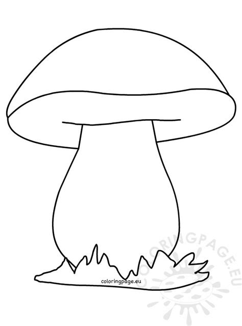 mushroom coloring picture coloring page
