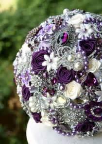 Vintage Purple Wedding Bouquet