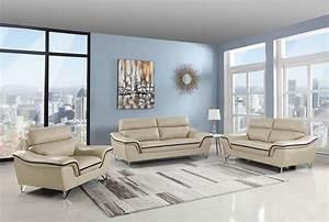 Beige, Genuine, Leather, Living, Room, Gu168, U2013, Casye, Furniture