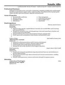 Secretary Resume Examples