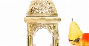 Champagne Gold Lantern Home Decor Morrocan by