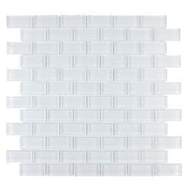 Elida Tile Home Depot by Elida Ceramica White Clear Brick Mosaic Glass Wall Tile