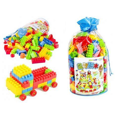 200pcs Plastic Square Kids Building Bricks Creativity