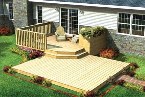 backyard deck plans small deck designs on wood deck designs small
