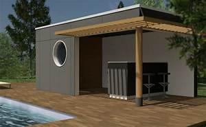 Pool House Toit Plat : pool house bois et passion ~ Melissatoandfro.com Idées de Décoration