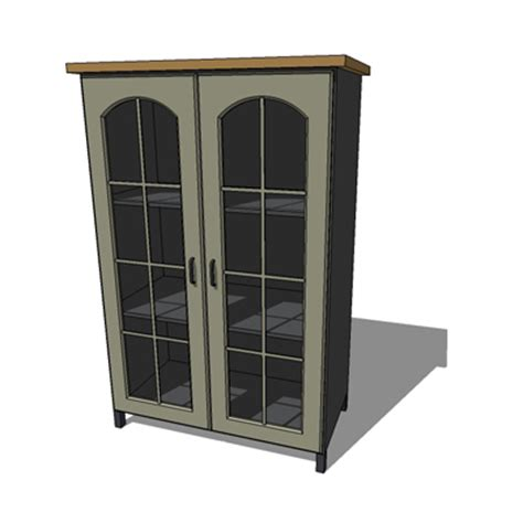 Cupboard With Glass Doors by Cupboard 3d Model Formfonts 3d Models Textures
