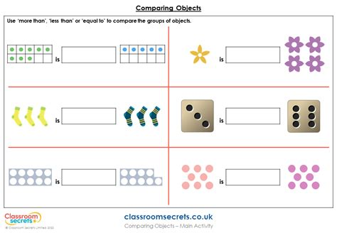 year  comparing objects lesson classroom secrets