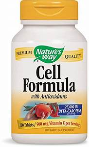 Cell Formula W   Antioxidants  Formerly Antioxidant Formula   100 Tablets