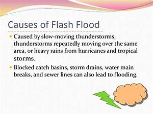Flash floods caused by clogging